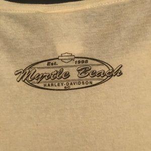 Harley-Davidson Tops - Harley Davidson Myrtle Beach Yellow LongSleeve Top